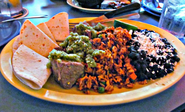 Restaurant review of Taco Lucha pork plate lunch special.